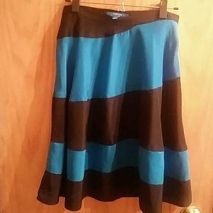 Derek Lam striped midi skirt